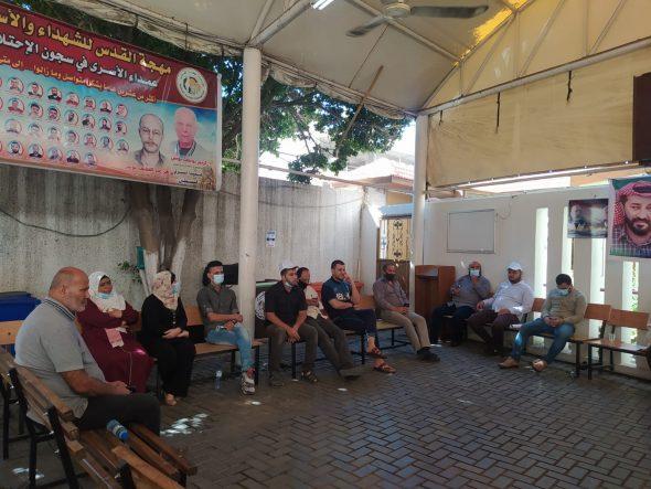 «العمل النسائي» يشارك بالاعتصام المفتوح لنصرة الاسير ماهر الأخرس